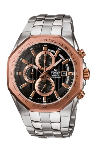 CASIO Edifice EF-531D-1A2VEF - Reloj de Caballero de Cuarzo, Correa de Acero Inoxidable Color Plata: Amazon.es: Relojes