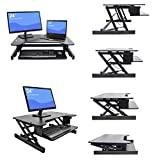 Superland Height Adjustable Standing Desk 31 x 20 Inch Work Surface Stand Up Desk Elevating Desktop with Dual Monitor (Black Elevating Desktop) For Sale