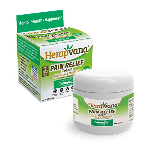 Original Hempvana Pain Relief Cream by BulbHead - The Hemp Cream for Pain Relief & Joint Pain Relief with Cannabis Seed Extract (Best Joint Relief Cream)