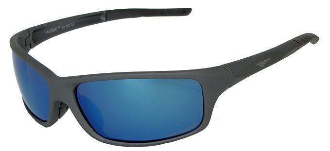 VertX varonil gafas de sol polarizadas deporte ciclismo correr al aire libre – Marco Gris Metal