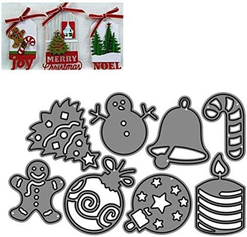Fustelle natalizie da taglio in metallo fai da te per goffratura Zuoshini