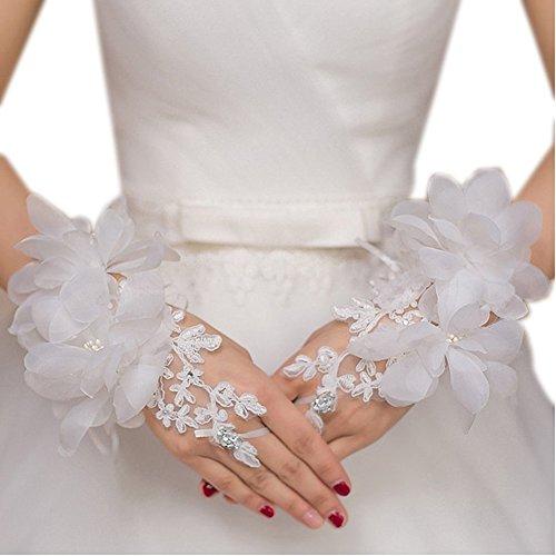 Ymgot 花嫁用品 ウエディング グローブ ショート ブライダル手袋 結婚式 披露宴 二次会 パーティー
