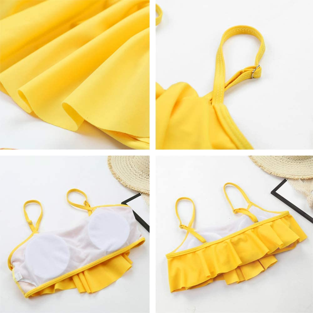 High Waisted Bikini,Yellow Bikini,Two Piece Swimsuits for Women Best Choice for Summer Beach,Swimming Pool,Unique Design