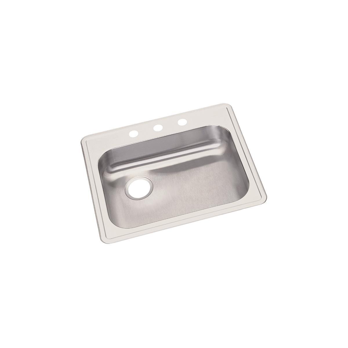 Dayton GE12521L3 Single Bowl Top Mount Stainless Steel Sink