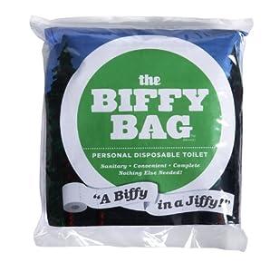 Amazon Com Biffy Bag Pocket Size Disposable Toilet
