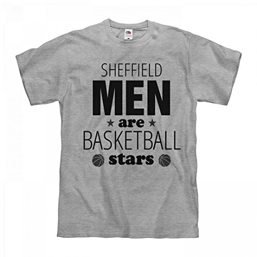 fan products of FUNNYSHIRTS.ORG Sheffield Men Are Basketball Stars: Unisex Fruit of The Loom Midweight T-Shirt