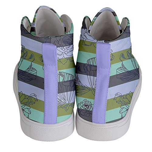 amp; violet Green Pale Cowcow Olive Femme Rose Pour Mode Baskets ZqXS0