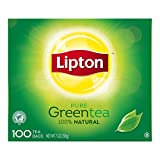 Lipton Hot Tea Bags 100% Natural Green 100 count, Pack of 5