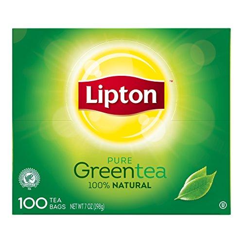 Lipton 100% Natural Hot Tea Green Blend 100 count, Pack of (Lipton 100% Natural)