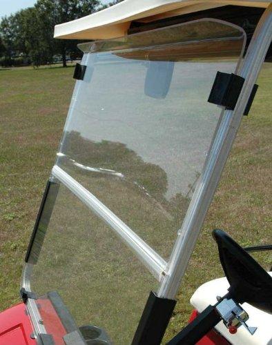 Stenten Golf Cart Accessories WS15961 Folding Hinged Windshield. Ez Txt Clr Impact Mod. (Hinged Windshield)