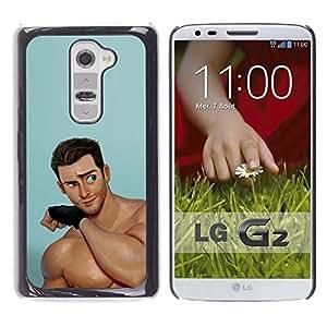 "For LG G2 Case , Guapos Músculos hombre de dibujos animados"" - Diseño Patrón Teléfono Caso Cubierta Case Bumper Duro Protección Case Cover Funda"