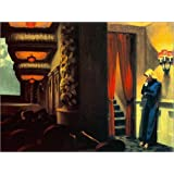 Poster 40 x 30 cm: New York Movie by Edward Hopper - high quality art print, new art poster
