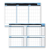 Day-timer Reversible Dry Erase Flexible Undated Planner, 90/120 Day Bilingual, 24 X 36 Inch (3413859737)