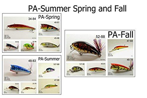 Akuna Seasonal Lures for Bass Fall Fishing for Each of
