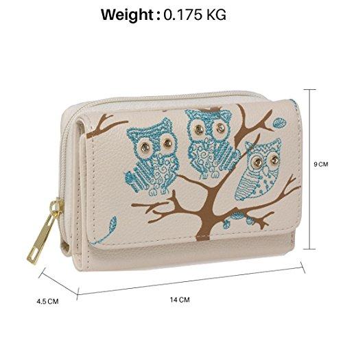 De Purse Beige 50 Uk Gratuita Bolso Precioso Cartera Delivery Guardar Save 50 Design Búho Free Color Entrega Uk Beige Owl Diseño Gorgeous wallet w0xvRRq