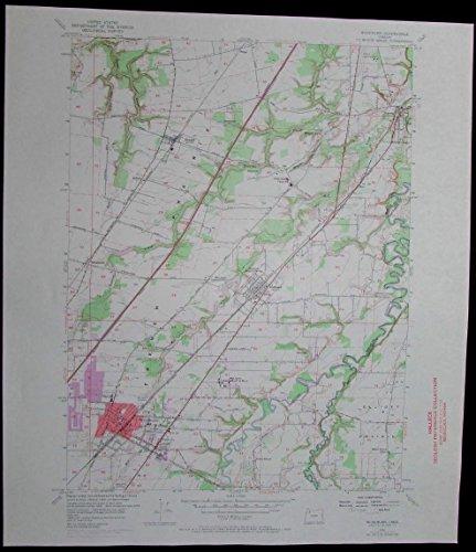 Woodburn Oregon Pudding River Hubbard vintage 1971 old USGS Topo - Map Woodburn Oregon Of