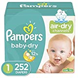 Diapers Newborn/Size 1, 252 Count - Pampers Baby