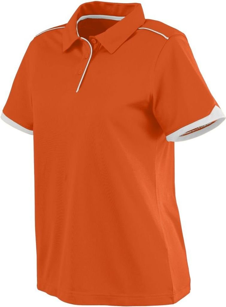 Augusta Sportswear WOMEN'S MOTION SPORT SHIRT 2XL Orange/White