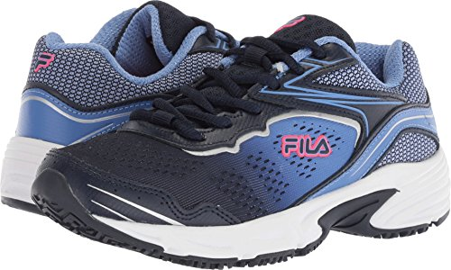 Fila Women's Memory Runtronic Slip Resistant Running Shoe, Navy/Wedgewood/Deep Pink, 8.5 Medium (Fila Athletic Shoes)