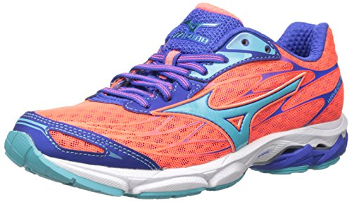 Shoes Mizuno Racing (Mizuno Women's Wave Catalyst-w Running Shoe, Fiery Coral-Capri, 6.5 B US)
