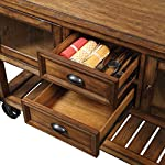 ACME Kadri Kitchen Cart - - Distressed Chestnut