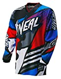 O'Neal Youth Mayhem Glitch Jersey (Blue/Red/Gray, Medium)