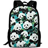 Best KAKA Work Backpacks - Panda Eat Bamboo Canvas Laptop Backpack Cute School Review