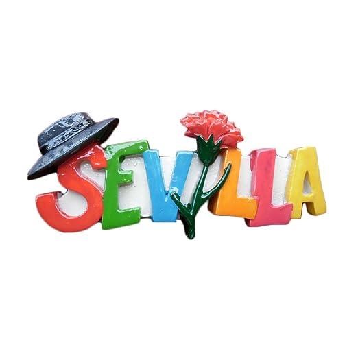 MUYU Magnet Sevilla España 3D Imán de Nevera de Viaje Estilo ...
