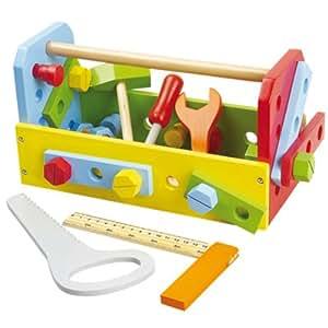 Gueydon Jouets Sas 800426 - Caja con herramientas de juguete (madera), varios colores