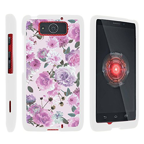 - MINITURTLE Case Compatible w/ Motorola DROID MAXX Phone Case, Thin Hard Shell Hard Armor Case w/ Personalized Graphics Motorola DROID MAXX XT1080 Pink Purple Flower
