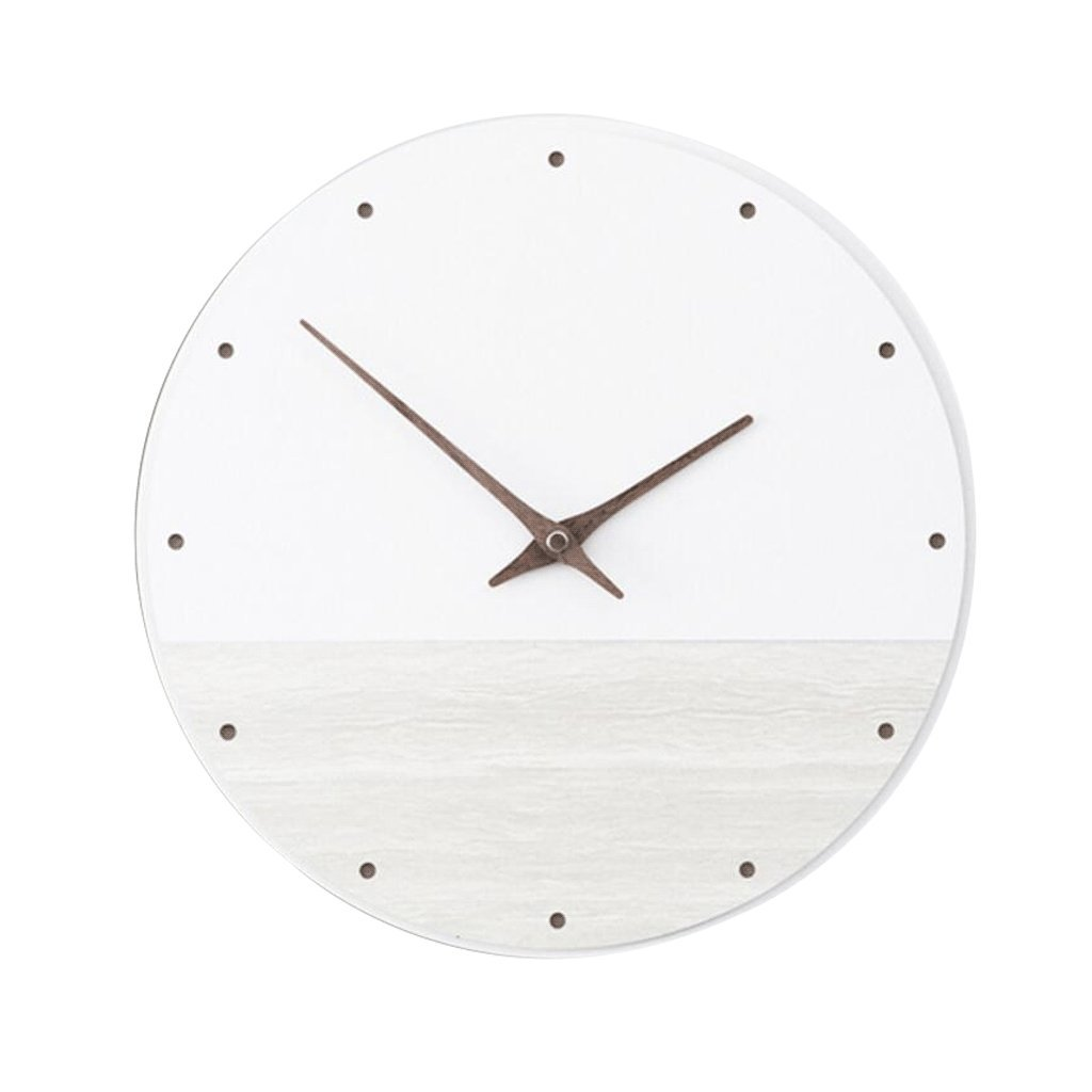 掛け時計 創造的な装飾的な壁時計木製の時計レトロ寝室の研究室居間30cm白 UOMUN (色 : B) B07C4TQ5TJB