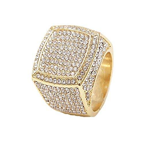 - Charles Raymond Bling Bling Hip Hop Iced Out Luxury Men's Ring - 444G (10)