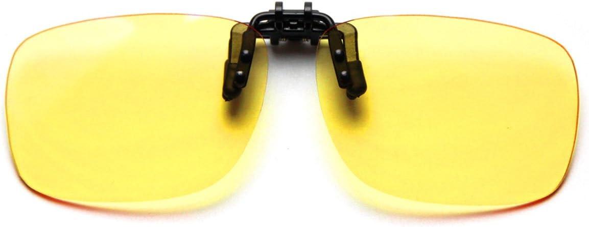 Cyxus filtro de luz azul (clip on) Gafas de la computadora, bloqueo uv fatiga de ojos anti Unisexo Gafas de lectura lente amarillo (Talla grande)