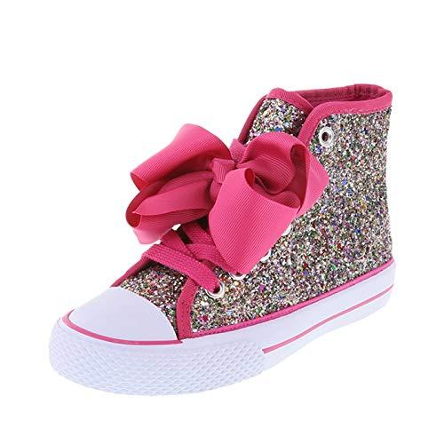 Nickelodeon Shoes Multi Glitter Girls' JoJo Legacee Sneaker High-Top 1.5 Regular]()