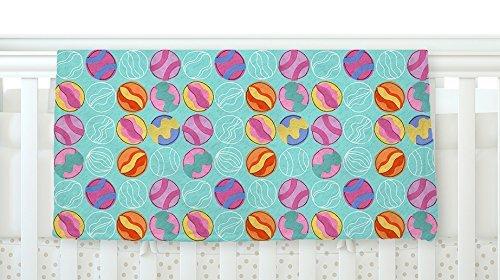 KESS InHouse Jane Smith Vintage Playground III Teal Pink Fleece Baby Blanket 40 x 30 [並行輸入品]   B077ZVGKNT