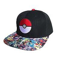 Pokemon - AOP Sublimated Cap Hat Size ONE Size - BLACK