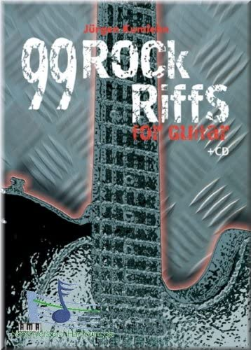 99 de rock Riffs For Guitar Guitarra – Partituras: Amazon.es ...