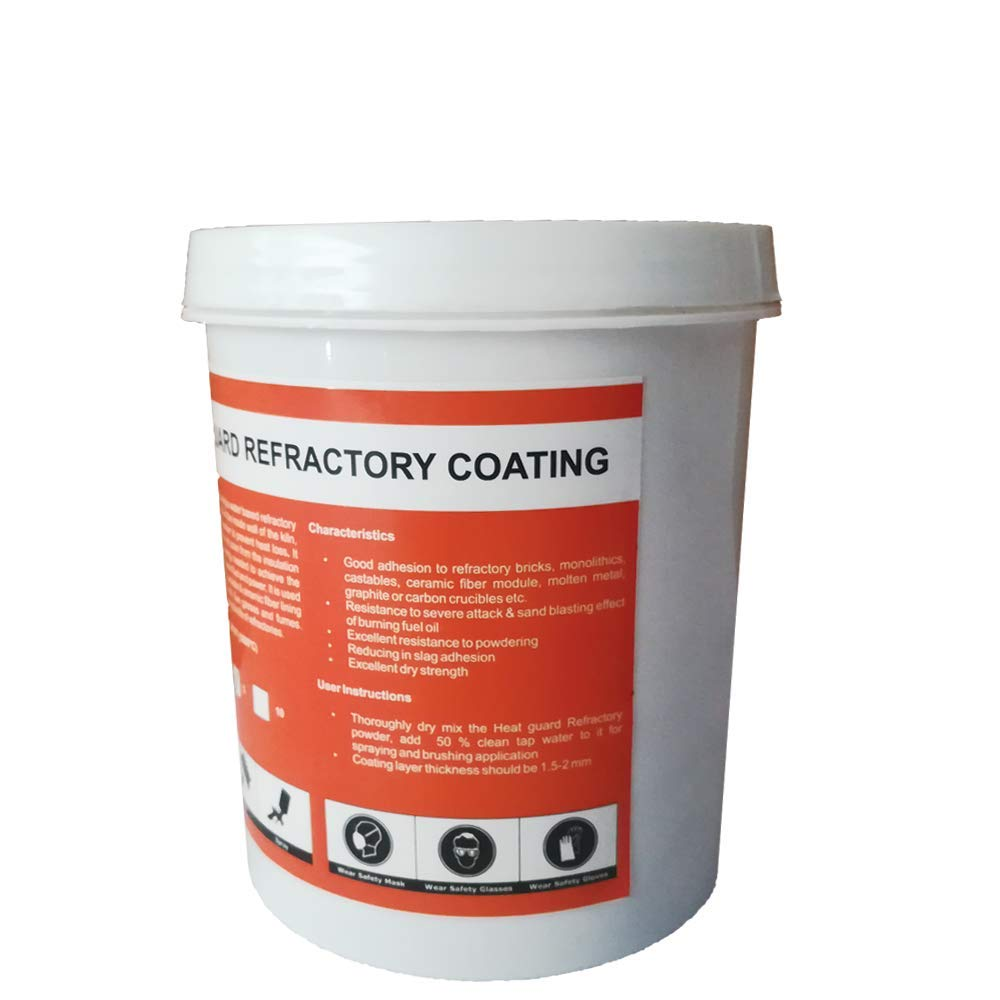 5Lbs Heat Guard Heat Reflection Coating for Refractory Protection Upto 3270F