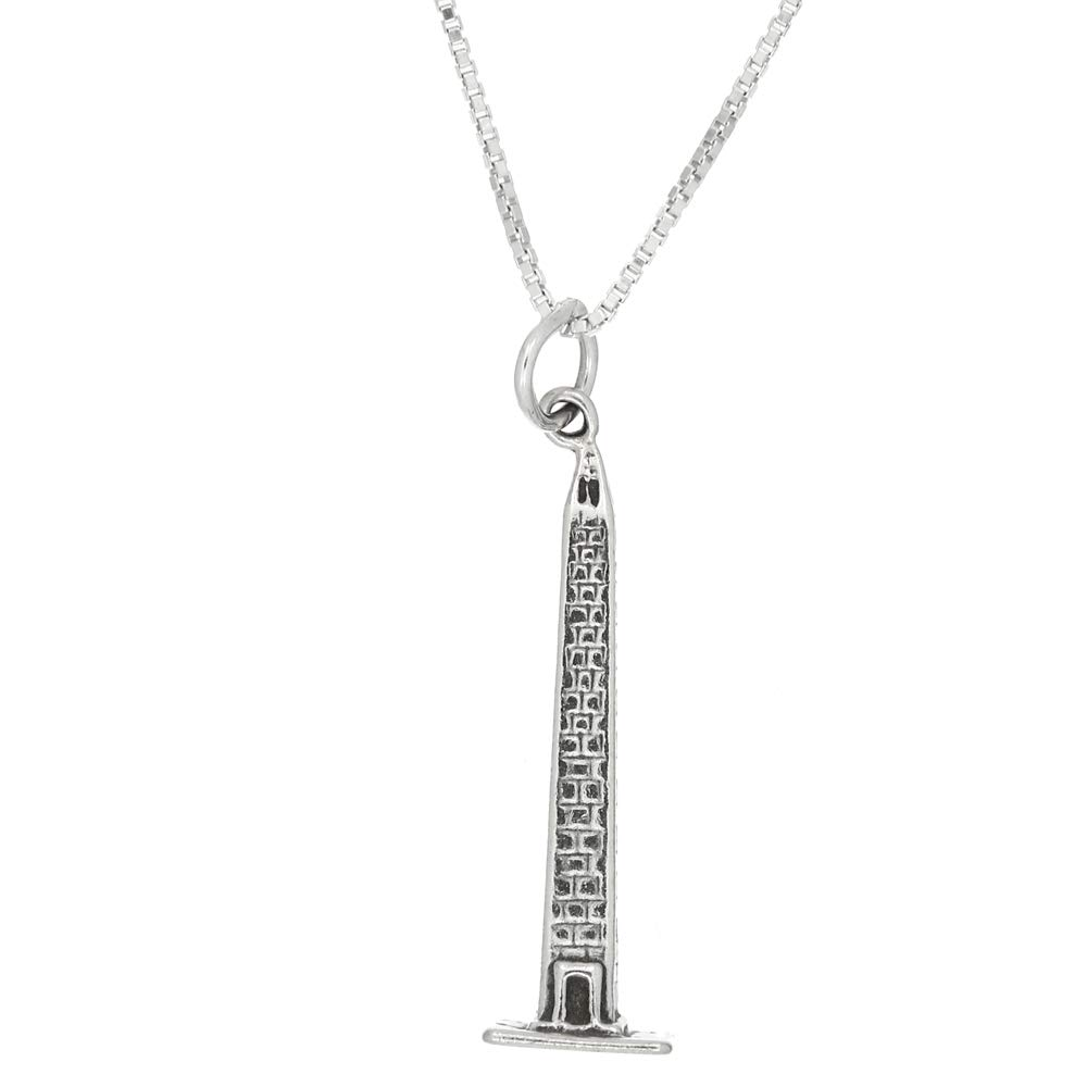 with Options Lgu Sterling Silver Washington Monument Charm Necklace