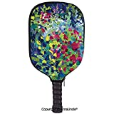 SCOXIXI 3D Pickleball Paddle Racket Cover Case,Digital Art Ombre and Dots Graphic Design Modern Home Textiles Print DecorativeCustomized Racket Cover with Multi-Colored,Sports Accessories