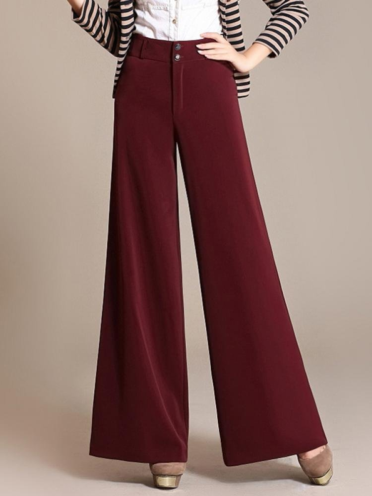 Enlishop Women High Waist Wide Leg Oversized Long Palazzo Pants Trouser Black by Enlishop (Image #5)