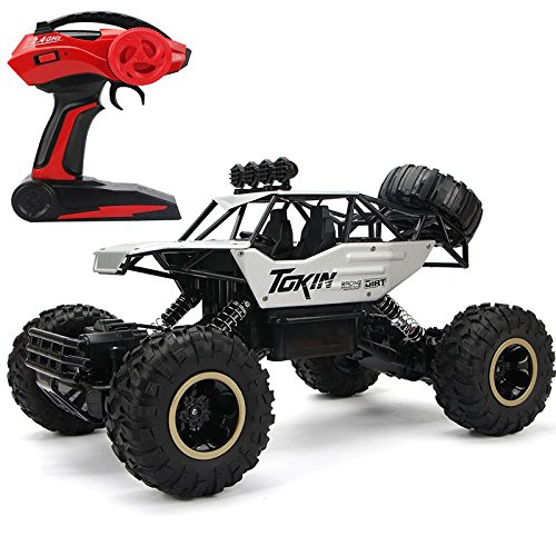 LightInTheBox RC Car 1:12 Scale 4WD Rock Crawlers Off -Road / Rock Climbing Car 4 CH/2.4G Brushless Electric with Flashlight / Waterproof / Shockproof Boys Suprise Gift (Silver)
