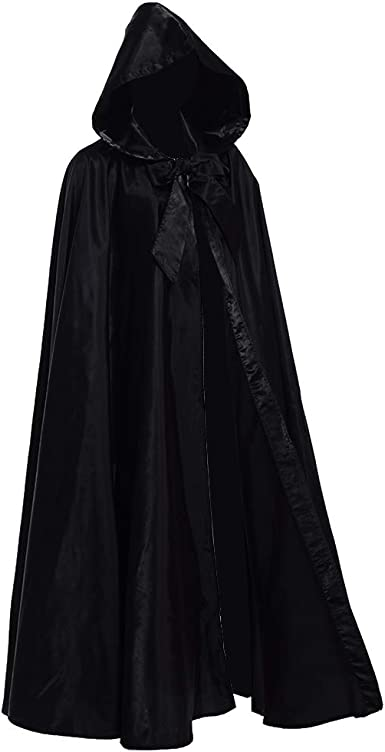 Medieval Hooded Cloak Cosplay Long Robe Halloween  Adult Wizard Witchcraft Capes