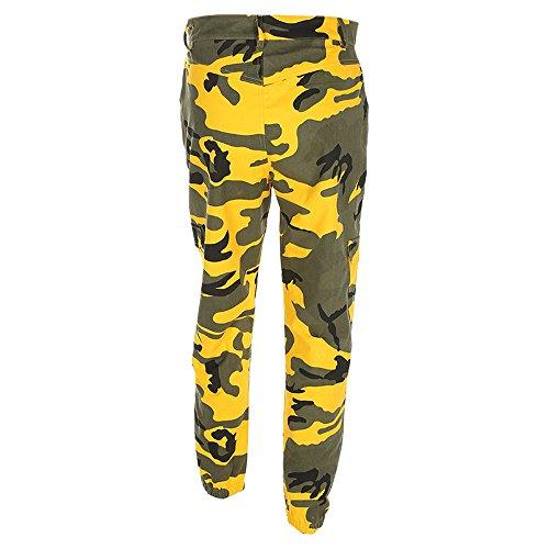 Camouflage Beikoard Cargo Sport Occasionnels Outdoor de Jeans Camo Jogging Jeans Femmes Jaune Vetement Mode Pantalons Pantalons axqR1Paw