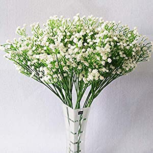 JIAHUADE DIY Artificial Flower Branch Baby's Breath Flower Gypsophila Fake Silicone Plant for Wedding Home Hotel Party Decorations 99