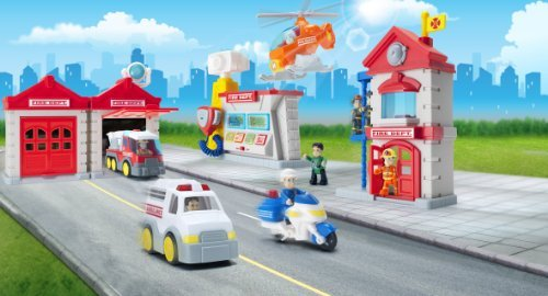 Happkid 3969T Fire Station Toy F...