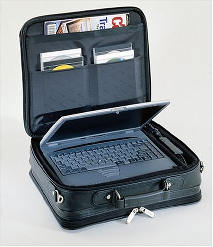Targus Traditional Leather Case for 15.4 Inch Laptops CLN5 (Black) by Targus