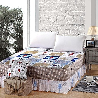 Sheet,100% Pure Cotton 1 Piece Suit Comfort Simple Modern Super Soft Bed Skirt , King