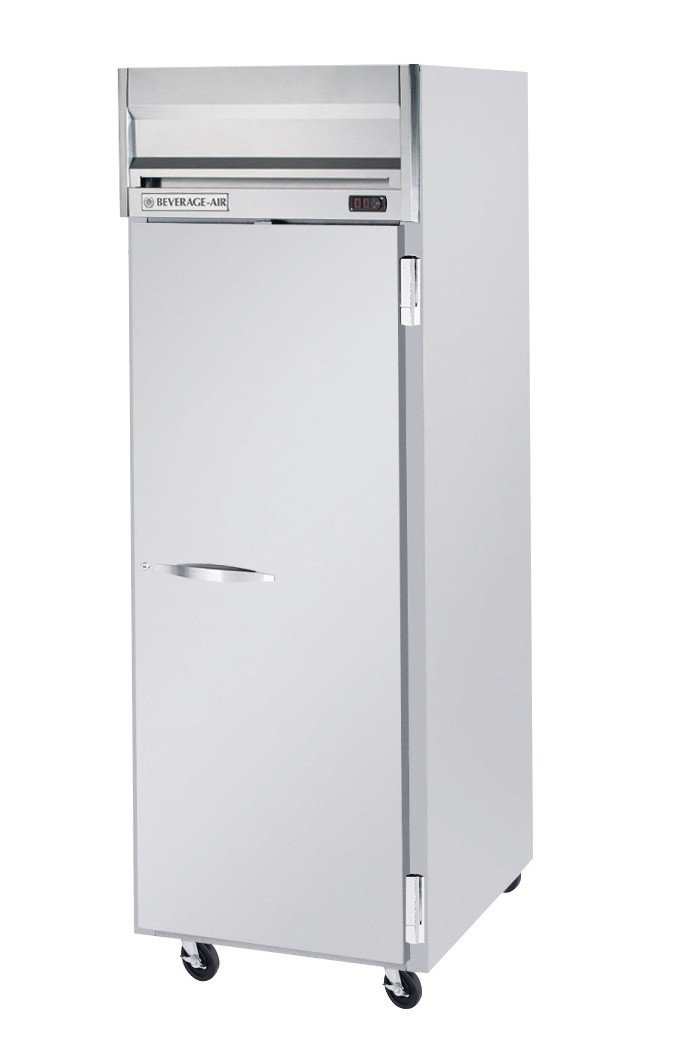 Beverage-Air HRP1-1S Horizon Series One Section Solid Door Reach-In Refrigerator 24 cu.ft. capacity Stainless Steel Front and Sides Aluminum