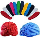 Dozen Pack- 12 Perfect Fit Bright Colored Beautiful Turbans
